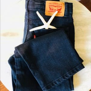 Levi's 511 Little Boy Slim Jeans Dark Wash 6 Reg